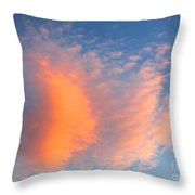 Fire Cloud And Aircraft Throw Pillow