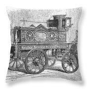 Fire Engine, 1862 Throw Pillow