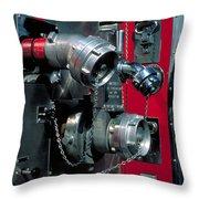 Fire Engine Apparatus Throw Pillow