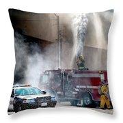 Fire Fight Throw Pillow