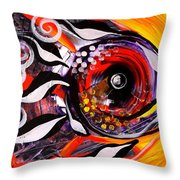 Fire Fish Four And A Half Throw Pillow