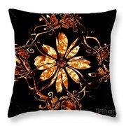 Fire Flower Throw Pillow