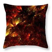 Fire-flowers Throw Pillow
