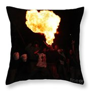 Fire Fungus Throw Pillow