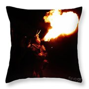 Fire Girl Throw Pillow