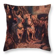 Fire. Illustration By Lucy Kemp Welch Throw Pillow