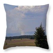 Fire In The Cascades Throw Pillow