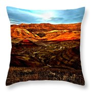 Fire In The Painted Hills Throw Pillow