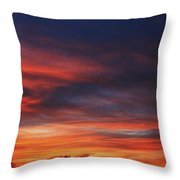 Fire In The Sky II Throw Pillow