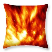 Fire In The Starry Sky Throw Pillow
