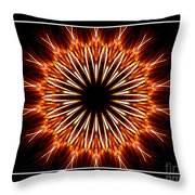 Fire Kaleidoscope Effect Throw Pillow