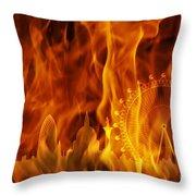 fire London skyline Throw Pillow