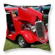 Fire Red Classic Throw Pillow