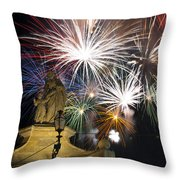 Fire Saints Throw Pillow