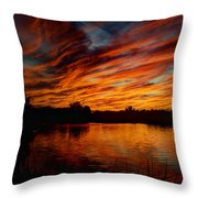 Fire Sky II  Throw Pillow