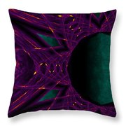 Fire Star - Purple Throw Pillow