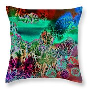 Fire Storm Abstract Throw Pillow