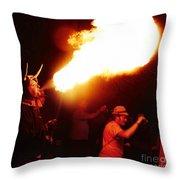 Fire Stroke Throw Pillow