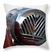 Fire Truck Siren Throw Pillow