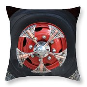 Fire Truck Spinners Throw Pillow