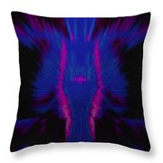 Fire Wolf Abstract Throw Pillow