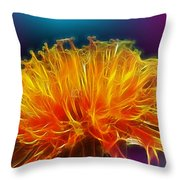 Fire Woven Dandelion Throw Pillow