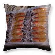 Firefly Squid Processing Throw Pillow