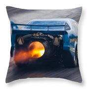 Fireforce Jet Funny Car Throw Pillow