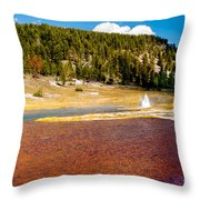 Firehole Lake Throw Pillow