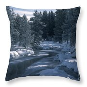 Firehole River In Yellowstone Throw Pillow