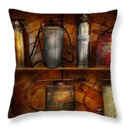 Fireman - Fire Control Throw Pillow by Mike Savad