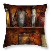 Fireman - Fire Control Throw Pillow