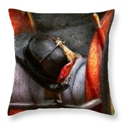 Fireman - Hat - South Plainfield Fire Dept Throw Pillow