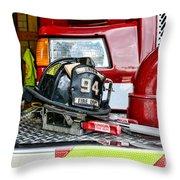 Fireman - Helmet Throw Pillow