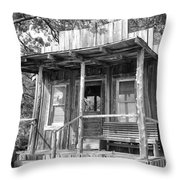 Fireman Cottage B And W Throw Pillow by Douglas Barnard