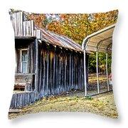 Fireman Cottage Throw Pillow by Douglas Barnard