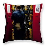 Fireman Stows A Self-contained Throw Pillow