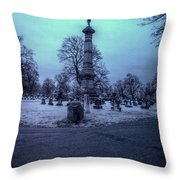 Firemans Monument Infrared Throw Pillow