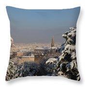 Firenze Under The Snow Throw Pillow