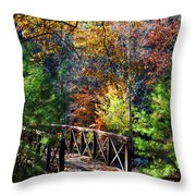 Fire's Creek Bridge Throw Pillow