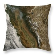 Fires In California Throw Pillow by Stocktrek Images