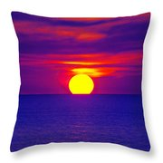Firesky-blue  Throw Pillow