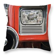 Firetruck Light And Horn Throw Pillow