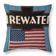 Firewater Throw Pillow