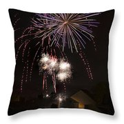 Fireworks 1 Throw Pillow