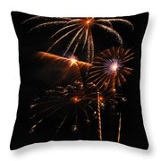 Fireworks 1580 Throw Pillow by Michael Peychich
