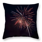 Fireworks 5 Throw Pillow