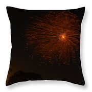 Fireworks And Wildfire Moon Throw Pillow