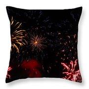 Fireworks At Oshkosh Airventure 2012. 01 Throw Pillow
