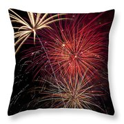 Fireworks Throw Pillow by Garry Gay